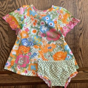 Baby dress with diaper cover